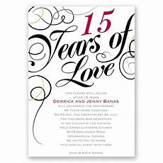 Printable Anniversary Party Invitations Years Of Love Anniversary Invitation Invitations By Dawn