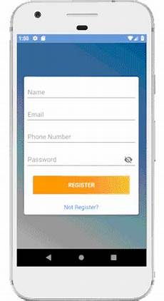 Android Registration Form Design Android Registration Form Design Xml Code
