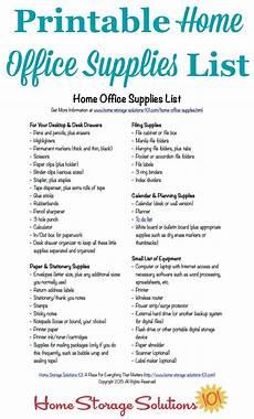 List Office Free Printable Home Office Supplies List