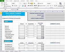 Price Comparison Spreadsheet Template Price Analysis Spreadsheet Template Excel Tmp