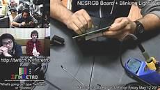 Blinking Light Mod Original Nes Mod 1 Nesrgb Board Blinking Light Win