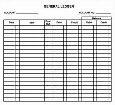 Monthly Ledger 12 Excel General Ledger Templates Excel Templates