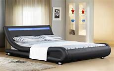 italian designer faux leather bed with led 4ft6 5ft