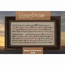 St Francis My Chart Prayer Of St Francis From Lizzie Kate Cross Stitch