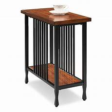 leick home ironcraft narrow chairside table chair side
