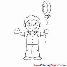 Jungs Malvorlagen Quotes Balloon Boy Free Colouring Page