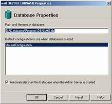 Start Database Starting Database Using Progress Explorer Tool Migration