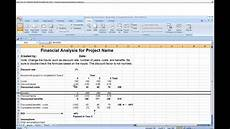 Sample Of A Spreadsheet Financial Analysis Spreadsheet Youtube
