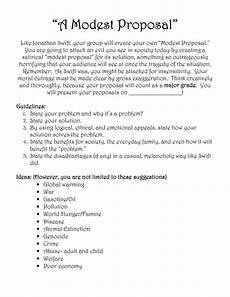 A Modest Proposal Essay Modest Proposal Modest Proposal Teaching Literature