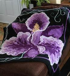 orchid single crochet afghan craftsy