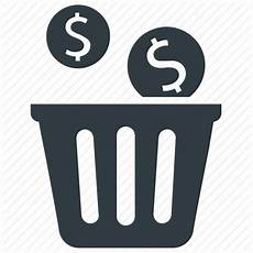 Financial Waste Bin Capital Financial Waste Money Waste Icon