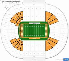 Neyland Stadium Seating Chart With Rows Lower Level Corner Neyland Stadium Football Seating