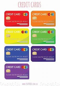 Credit Card Template For Kids Credit Card Printable Play Tribe