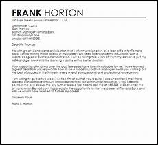 Bank Resignation Letter Bank Resignation Letter Resignation Letters Livecareer