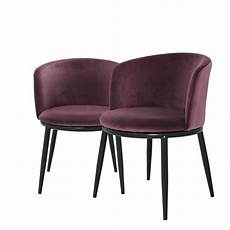 Purple Dining Room Chairs Dining Chair Balmore Almond Purple Velvet Set Of 2 In The