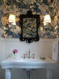 Bold Wallpaper Designs Eclectic Home Tour Bold Powder Room Wallpaper