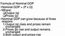 Formula For Nominal Gdp Ecolrt Handouts Group 6