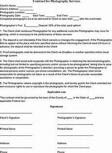 Contract For Photography Services Template Event Photography Contract Template Wedding Photography