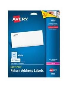 Avery 5195 Labels Avery Easy Peel Return Address Labels For Laser Printers