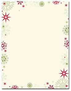 Holiday Letterhead Free Download Christmas Stationery Red Amp Green Flakes Letterhead