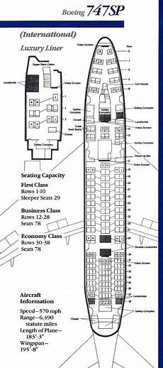 American Airlines 747 Seating Chart Vintage Airline Seat Map American Airlines Boeing 747sp