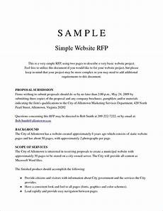 Rfp Templates Word Rfp Template Project Proposal Template Free Resume