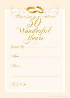 50th Anniversary Template Free 50th Wedding Anniversary Invitations Templates 50th