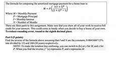 Amortized Loan Formula Solved The Formula For Computing The Amortized Mortgage P