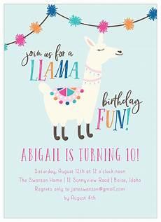 Birthday Invitaiton A Llama Fun Children S Birthday Invitations By Basic Invite