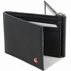 Trifold Or Bifold Mens Leather Wallet Spring Money Clip Z Shape Trifold