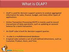 What Is Olap Ms Sql Server Olap Cubes And Data Mining