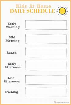 Printable Daily Schedule Kids At Home Flexible Daily Schedule For Kids Super Healthy Kids