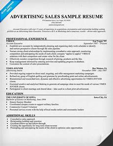Advertising Sales Resume Samples Advertising Sales Resume Sample Resumecompanion Com