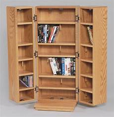 medium sized cd dvd bluray cabinet with doors in oak