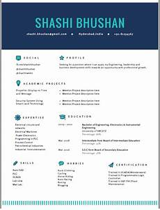 Attractive Resume Format For Freshers Resume Format Cv Format Freshers Resume Sample Templates