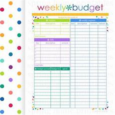 Weekly Bill Planner Weekly Budget Budget Planner Printable By Springhomeprintables