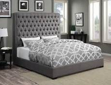 camille grey platform bed from coaster coleman