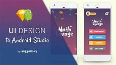 App Ui Sketch App Ui Design To Android Xml Tutorial Youtube