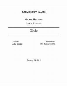 Academic Cover Page Template University Assignment Title Page Template Essay Cover
