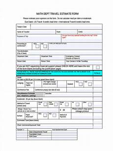 Travel Estimator Free 39 Estimate Forms In Pdf Ms Word