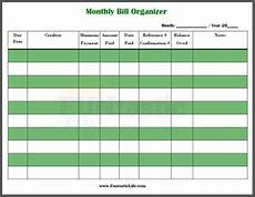 Online Bill Organizer Spreadsheet Free Printable Monthly Bill Organizer Funtastic Life
