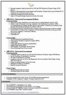Fresher Accountant Resume Sample Chartered Accountant Resume Format Freshers Page 2