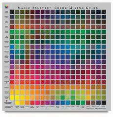 S Acrylic Craft Paint Color Chart Magic Palette Artists Color Selector And Mixing Guide