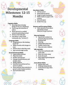 12 Month Old Milestones Chart Pediatric Occupational Therapy Tips Developmental