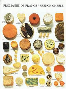 French Cheese Chart Carol Postcrossing Journey Fromages De France French Cheese