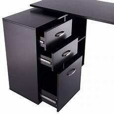 computer desk table workstation l shape drawer shelf file