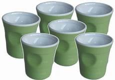 bicchieri verdi set 6 bicchieri accartocciati verdi caffettiere moka