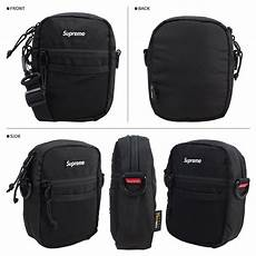supreme bag supreme shoulder bag black ss17 waist bag box logo small