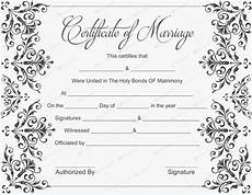 Printable Marriage Certificate 10 Beautiful Marriage Certificate Templates To Try This Season