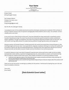 Data Scientist Cover Letter 66 Cover Letter Samples How To Format With Examples